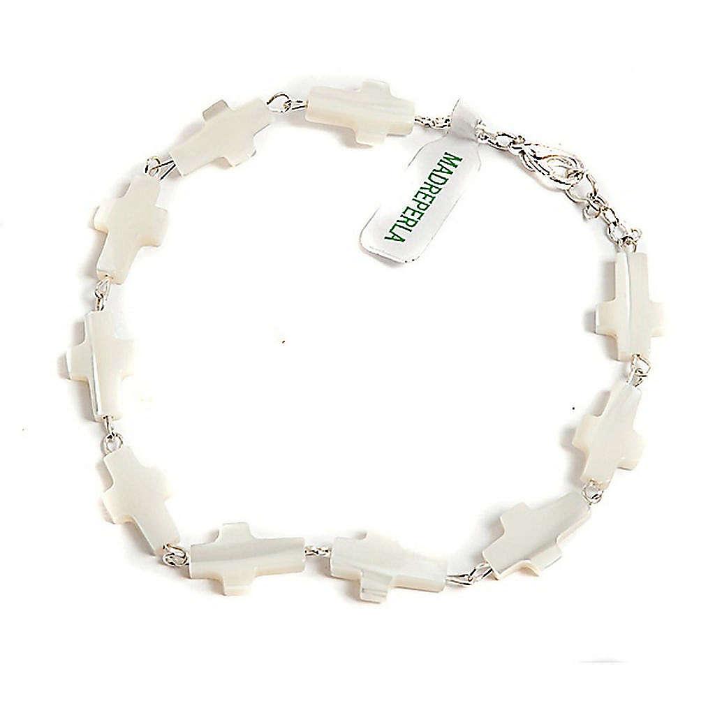 Bracelet nacre, croix 4