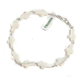 Cross-shaped motherofpearl bracelet s1