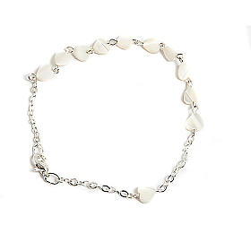 Heart-shaped motherofpearl bracelet s1