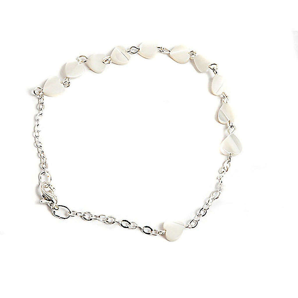 Heart-shaped motherofpearl bracelet 4