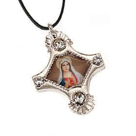 Croix pendentif, image  paillettes s4