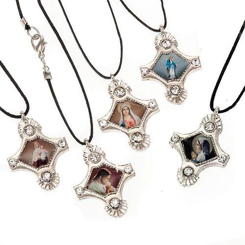 Croix pendentif, image  paillettes 1