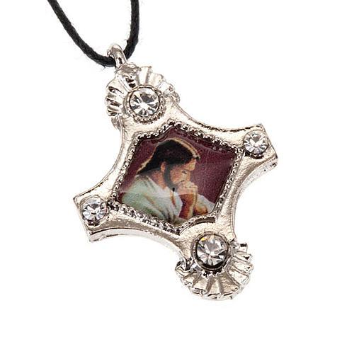 Croix pendentif, image  paillettes 3