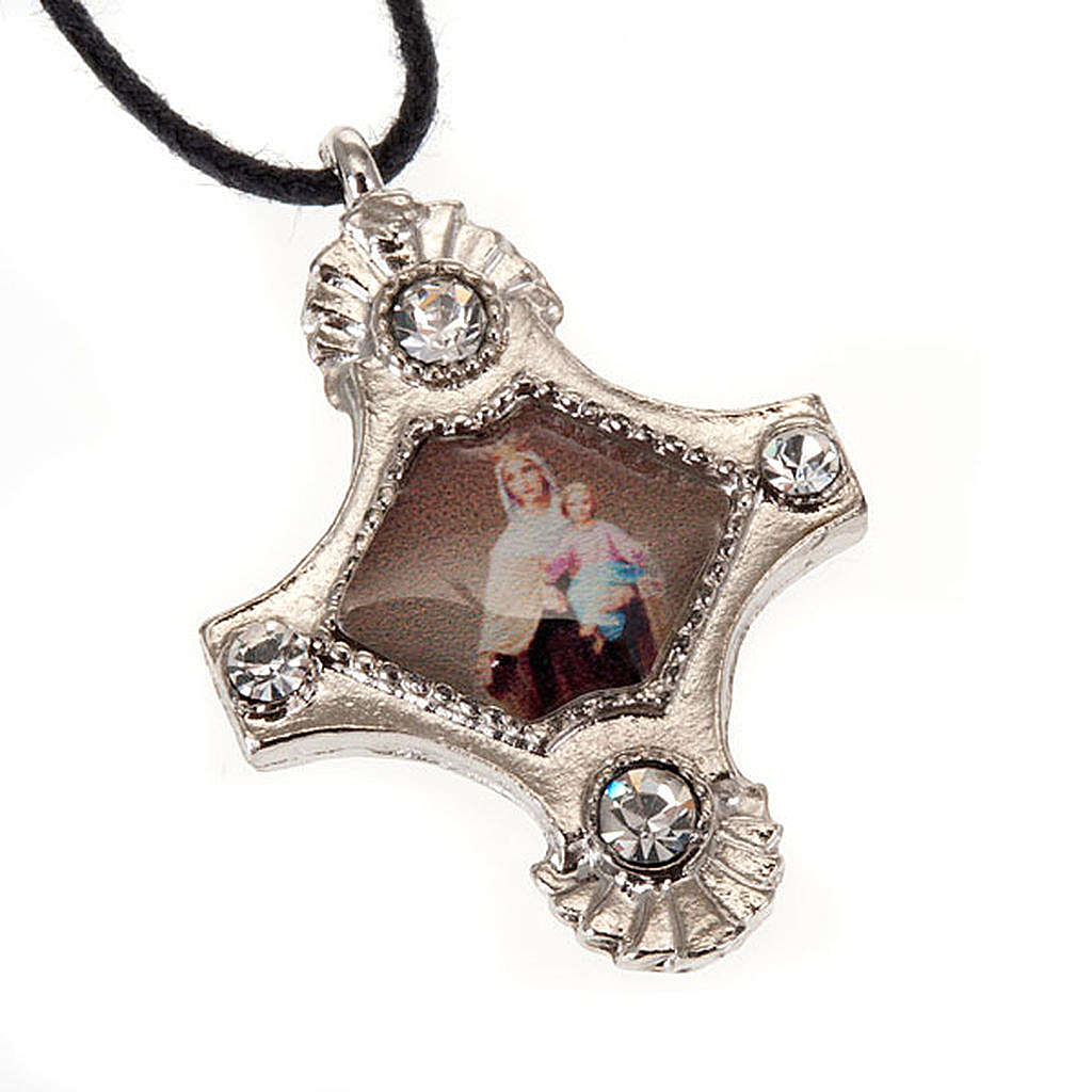Pendant with strass cross 4