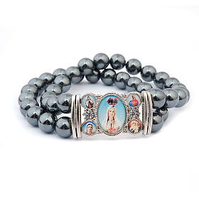 Hematite multi-image bracelet s5