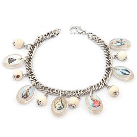 Bracciale multimmagine perle bianche s1