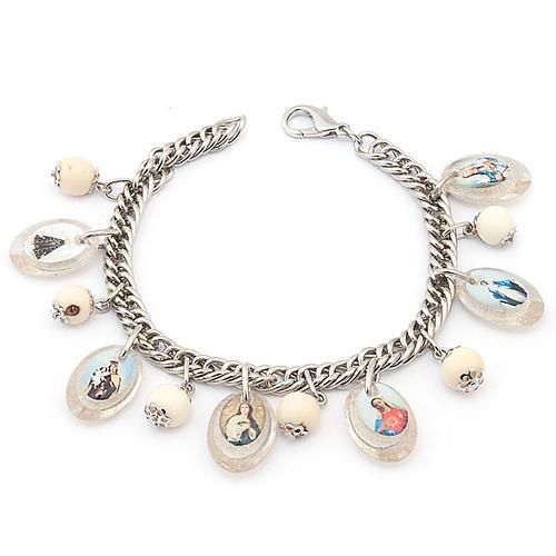 Bracciale multimmagine perle bianche 1