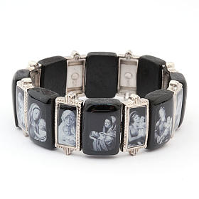 Bracelet-chapelet, Vierge, bois, métal s3