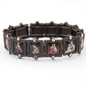Multi-image bracelet with strass s1