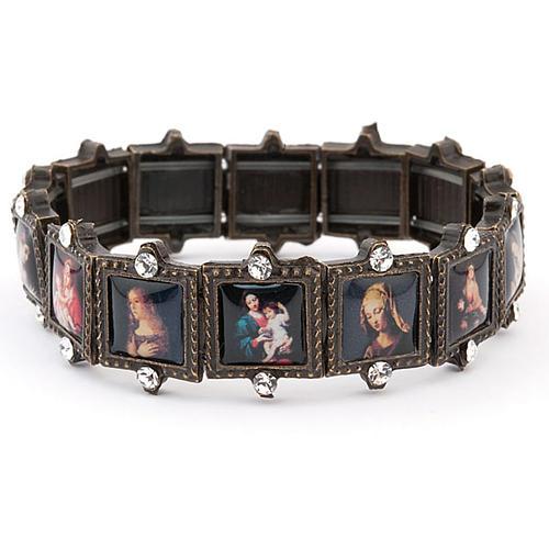 Multi-image bracelet with strass 2