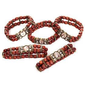 Multi-image wood bracelets: Sepia and strass multi-image bracelet