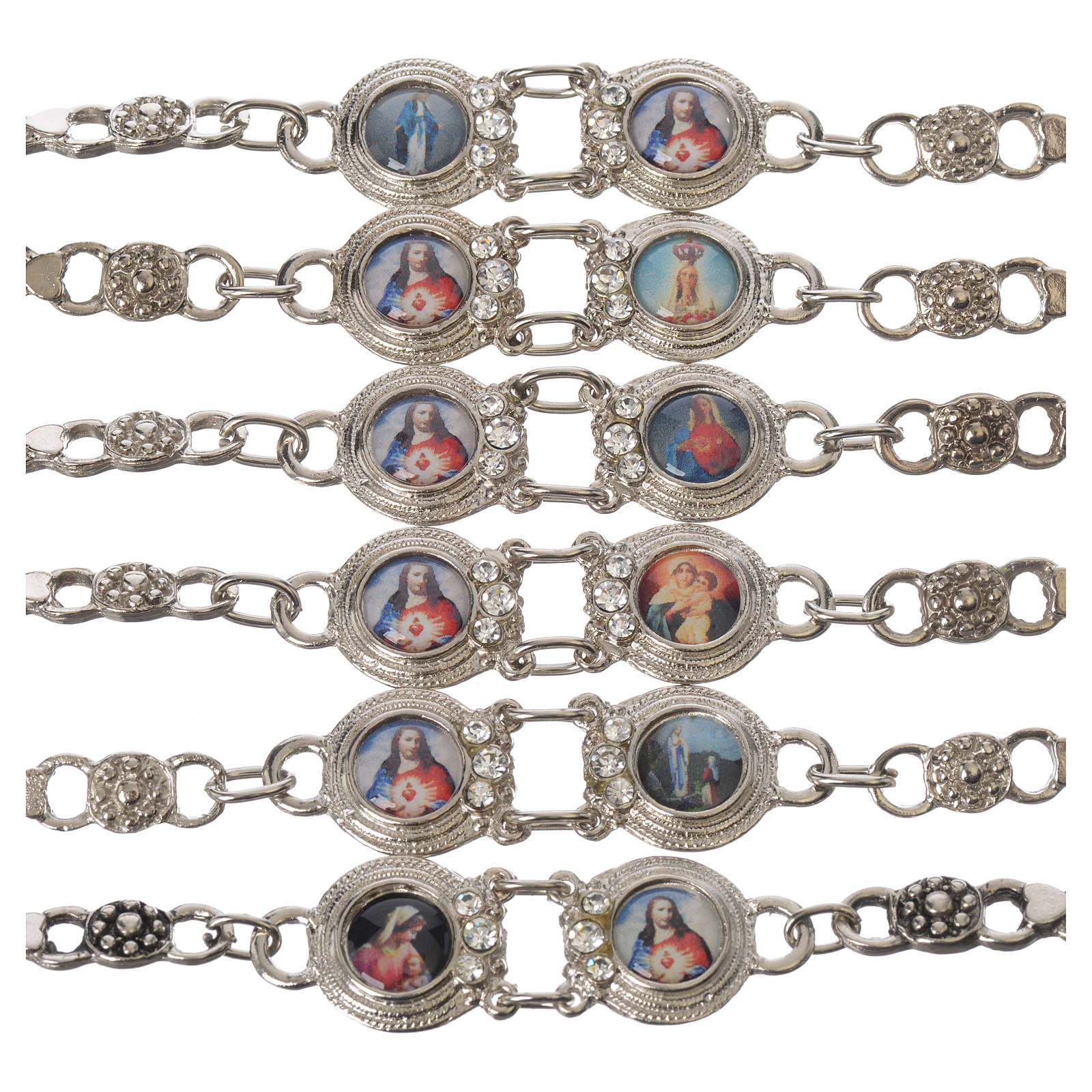Metal bracelet with Mary and Jesus 4