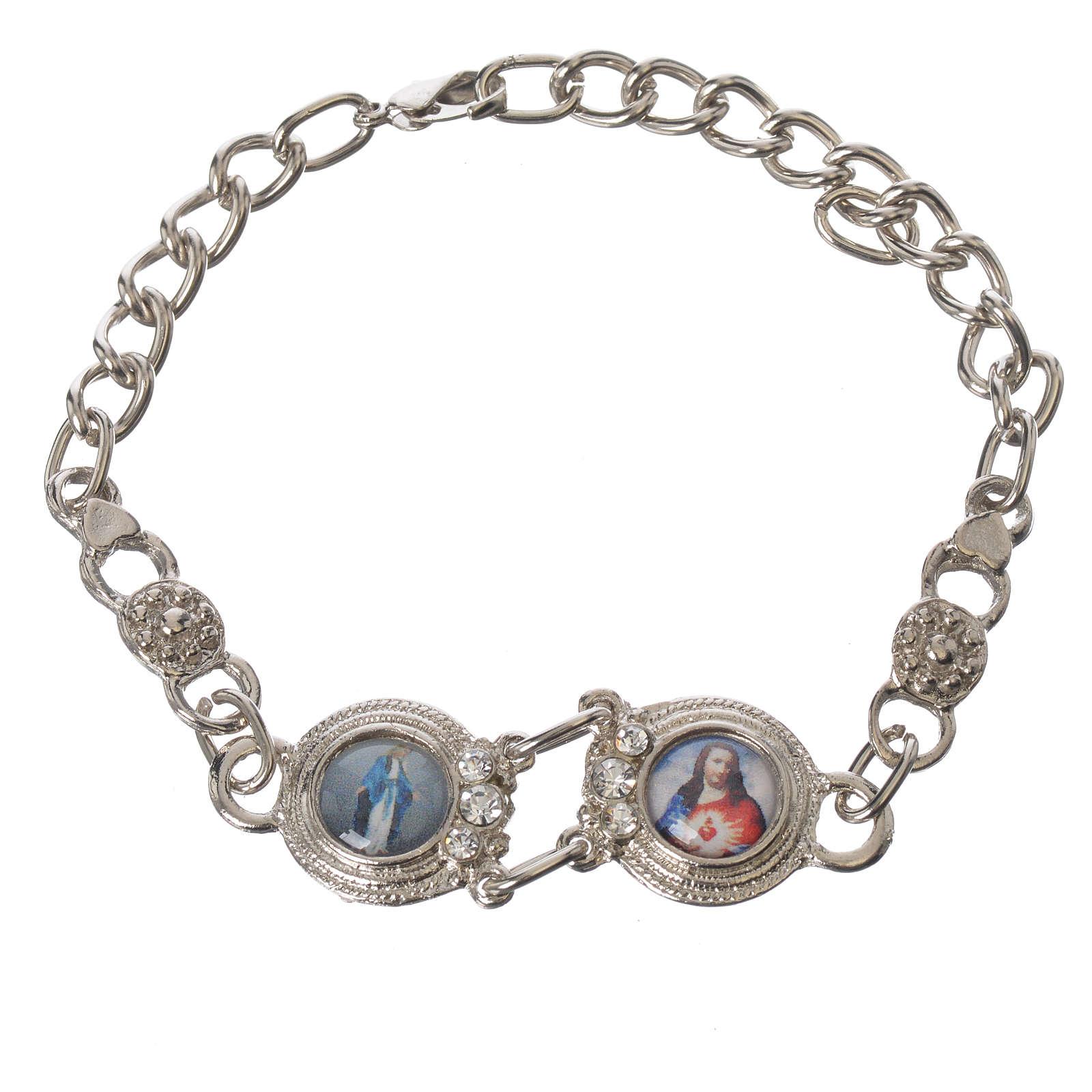Posrebrzana bransoleta z Maryją i Jezusem 4