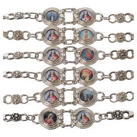 Posrebrzana bransoleta z Maryją i Jezusem s1
