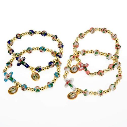 Cloisonné bracelet with image 1