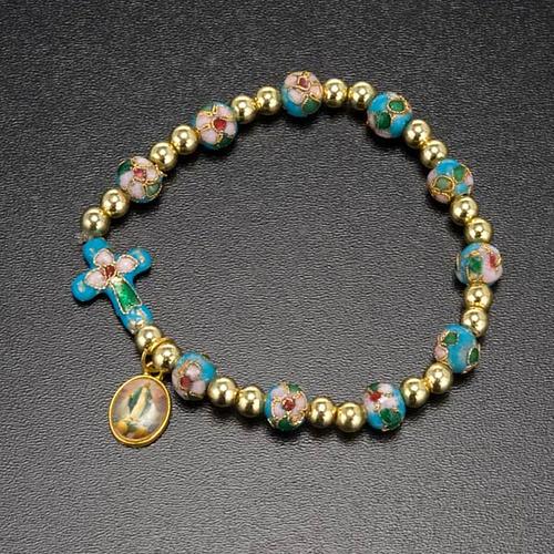 Cloisonné bracelet with image 4
