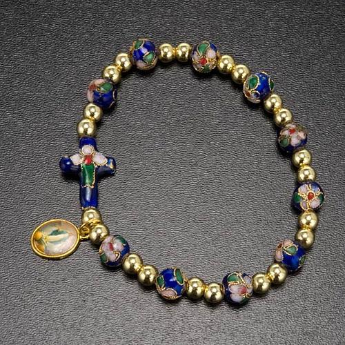 Cloisonné bracelet with image 7