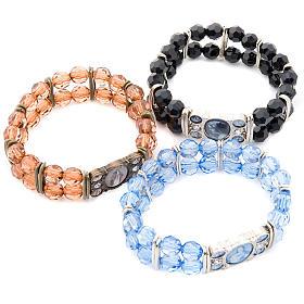Bracelets avec images en métal: Bracelet, perles, 5 images
