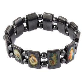 Oval multi-image hematite bracelet s1