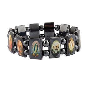 Oval multi-image hematite bracelet s3