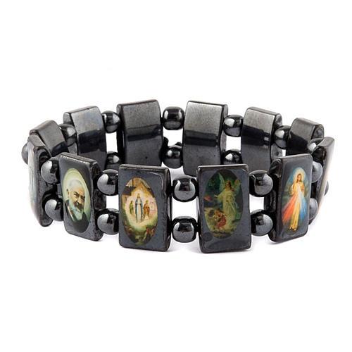 Oval multi-image hematite bracelet 2