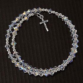 Spiralenförmiges, silbernes Swarovski Rosenkranz-Armband s6