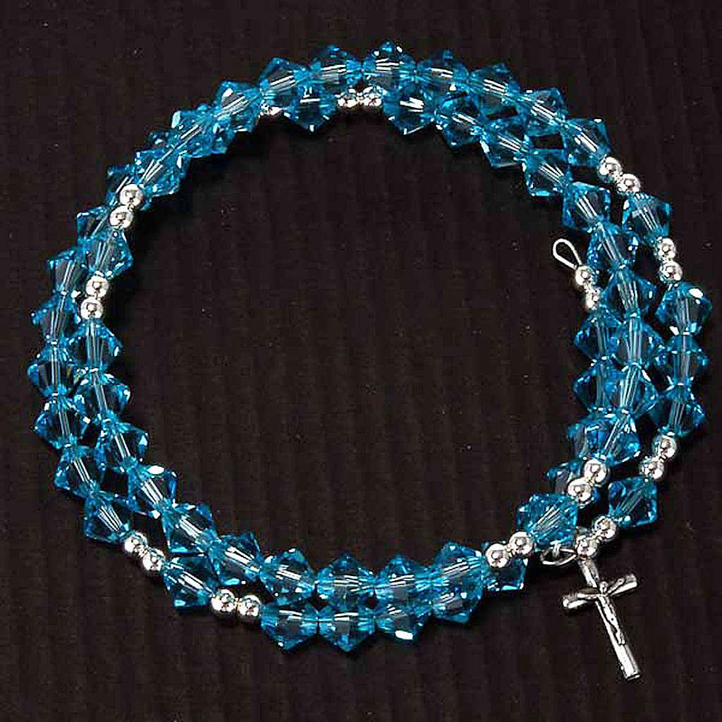Silver rosary bracelet with Swarovski 4