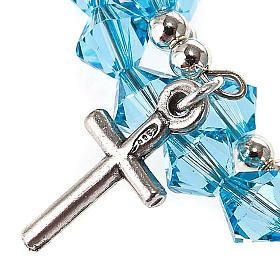 Silver rosary bracelet with Swarovski s4