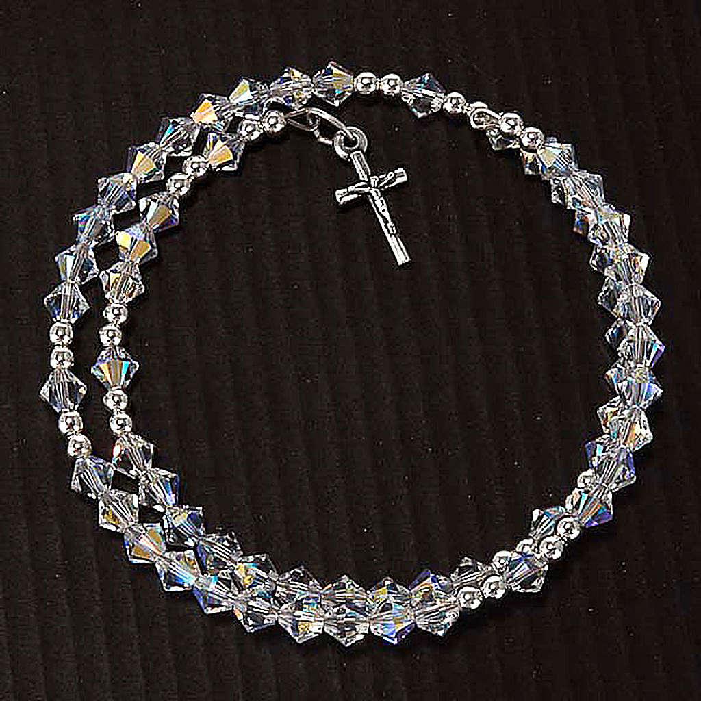 Bracelet-chapelet Swarovski et argent 925 4