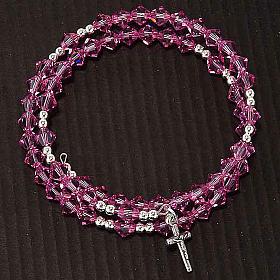 Bracciale rosario Swarovski e argento 925 s7