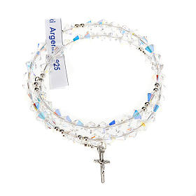 Bracciale rosario Swarovski e argento 925 s12