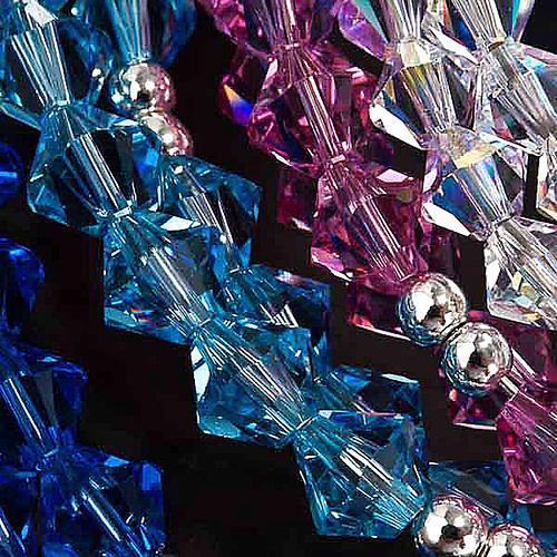 Bracciale rosario Swarovski e argento 925 3