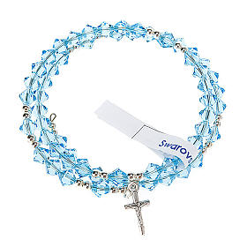 Silver rosary bracelet with Swarovski s11