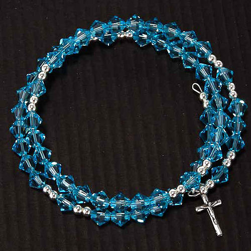 Silver rosary bracelet with Swarovski 5