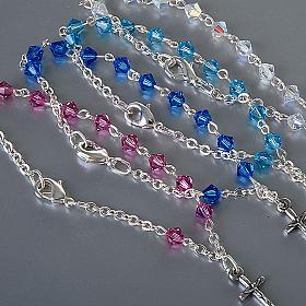 Silver decade rosary bracelet with Swarovski s3