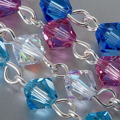 Silver decade rosary bracelet with Swarovski 5