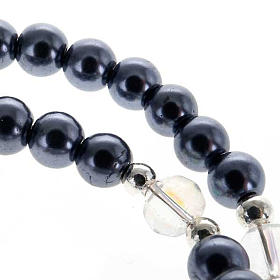 Rosary wrap around bracelet in faux hematite s2