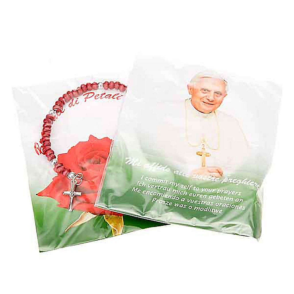 Bracciale rosario petali di rose 4
