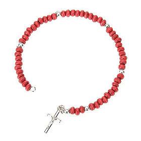 Bracciale rosario petali di rose s1