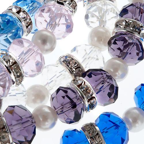 Pulsera cuentas de cristal y strass 3