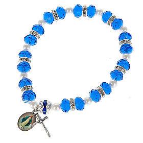 Bracelet grains cristal et paillettes s5