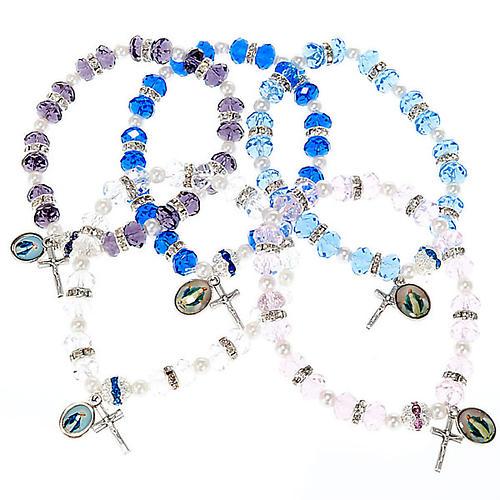 Bracelet grains cristal et paillettes 1