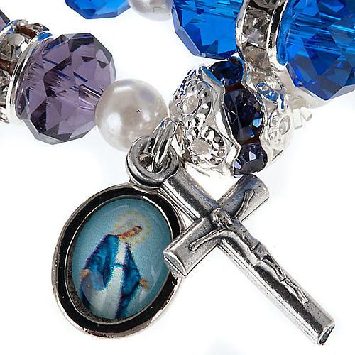 Bracelet grains cristal et paillettes 2