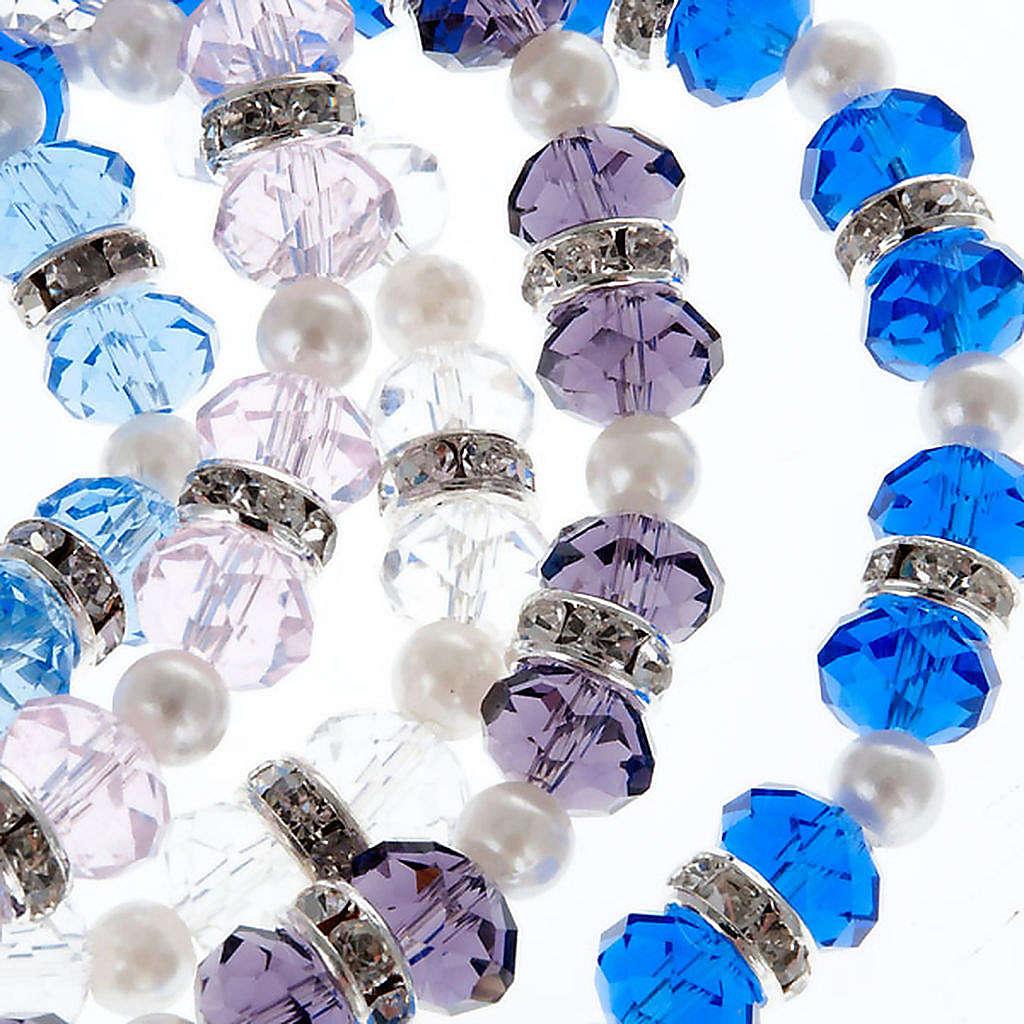 Bracciale grani cristallo strass 4