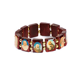 Bracciale multimmagine quadro perline dorate s1