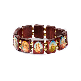 Bracciale multimmagine quadro perline dorate s2