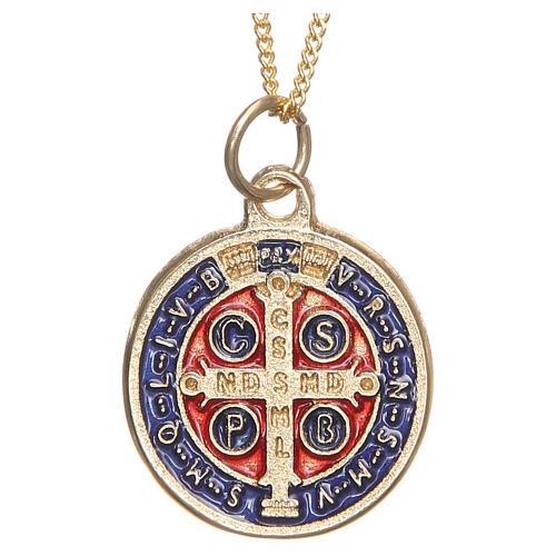 Medaille Heiliger Benediktus vergoldeten Metall