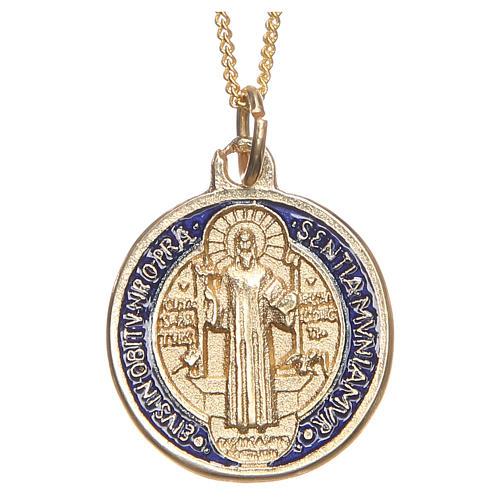 Croix pendentif,médaille S.Benoit 1
