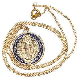 Medaglia di San Benedetto dorata s3