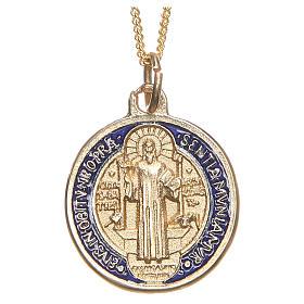 Pingentes Vários: Medalha de São Bento dourada